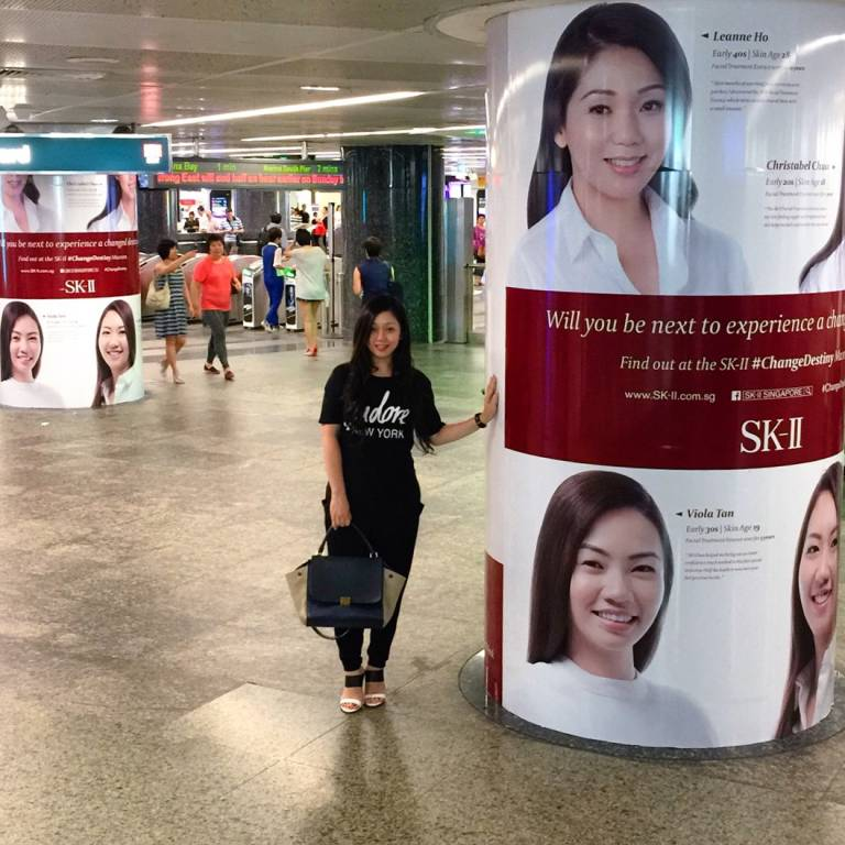 Leanne and SK-II Posters at Orchard MRT